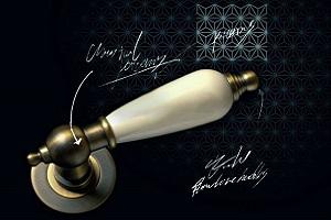 Ручки дверные на круглой накладке