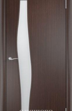 Дверное полотно остекленное С-10 (о) Венге 2000×600 мм