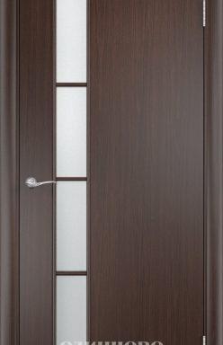 Дверное полотно остекленное С-14 (о) Венге 2000х350