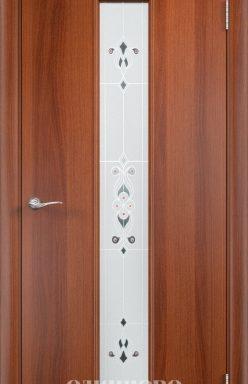 Дверное полотно С-21 (х/барокко) Итальянский орех 700х2000