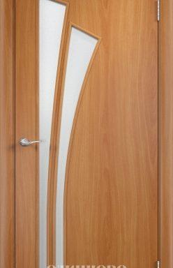 Дверное полотно остекленное С-7 (о) Миланский орех 2000х700
