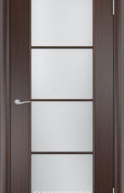 Дверное полотно остекленное С-8 (о) Венге 2000х700
