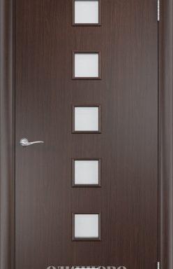 Дверное полотно остекленное С-9 (о) Венге 2000х300
